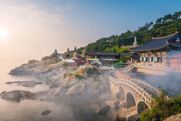 Haedong Yonggungsa Temple in Busan, South Korea stock photo