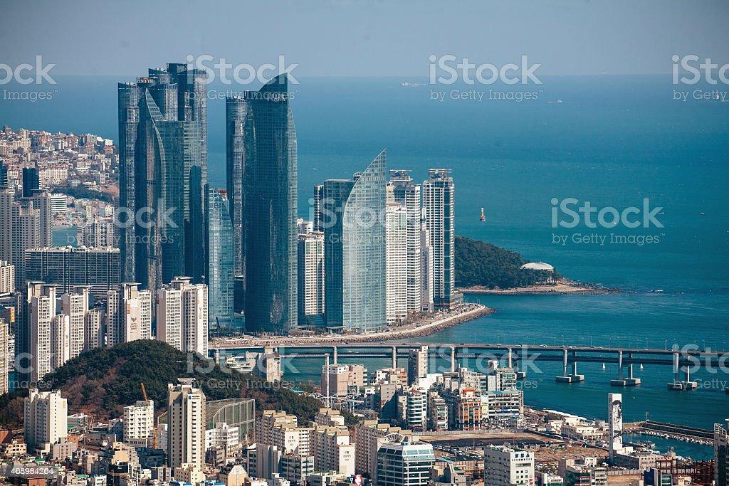 Haeundae i'park apartments in Pusan, Korea stock photo