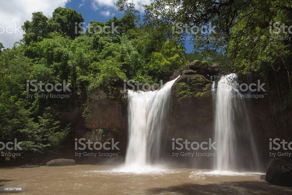 Haew suwat waterfall khaoyai national park stock photo