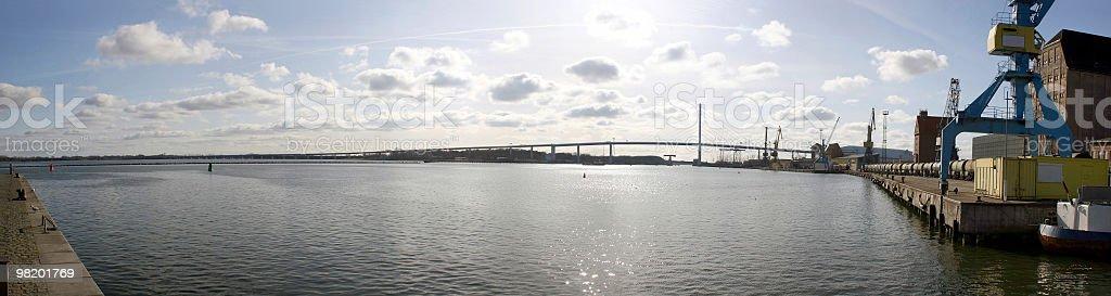 Hafen Stralsund - Blick nach Dänholm und Rügen royalty-free stock photo