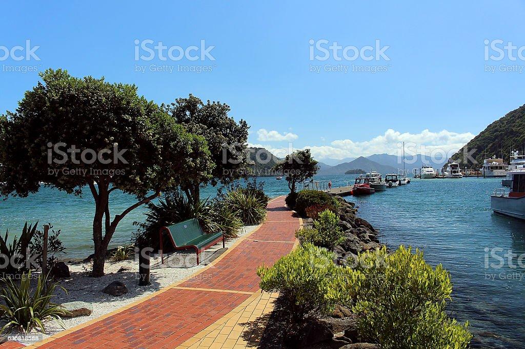 Hafen von Picton stock photo