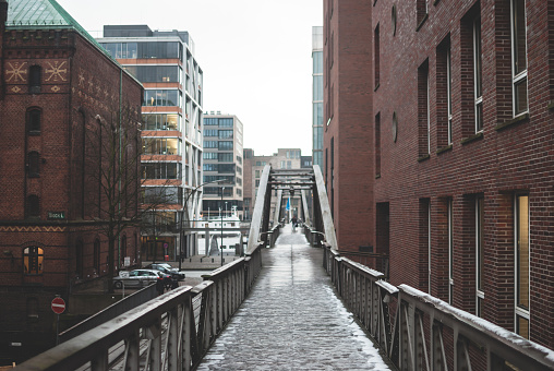 Hafencity, harbour district in Hamburg, Germany