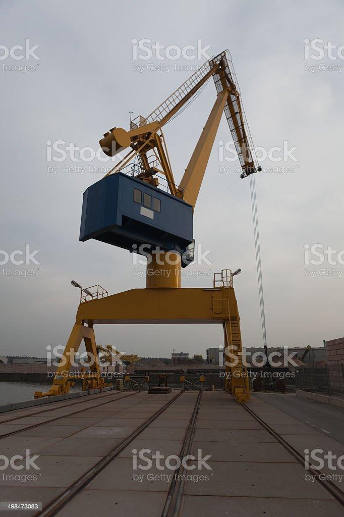 Hafenkran stock photo