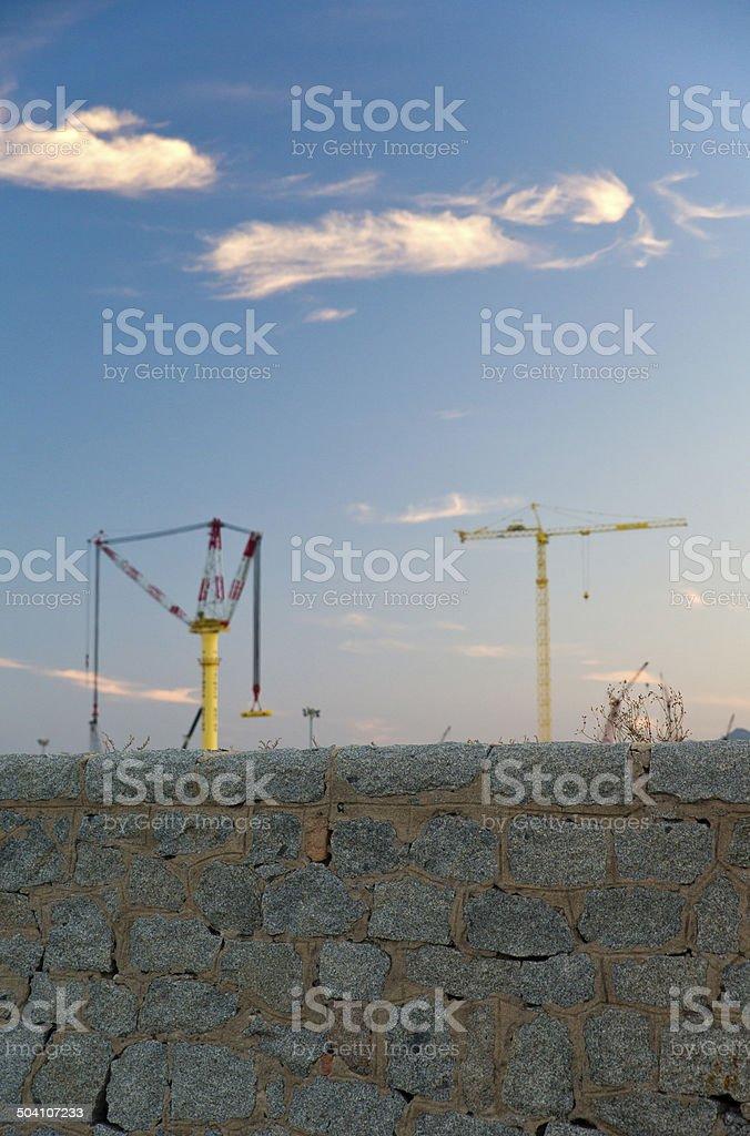Hafenkräne stock photo