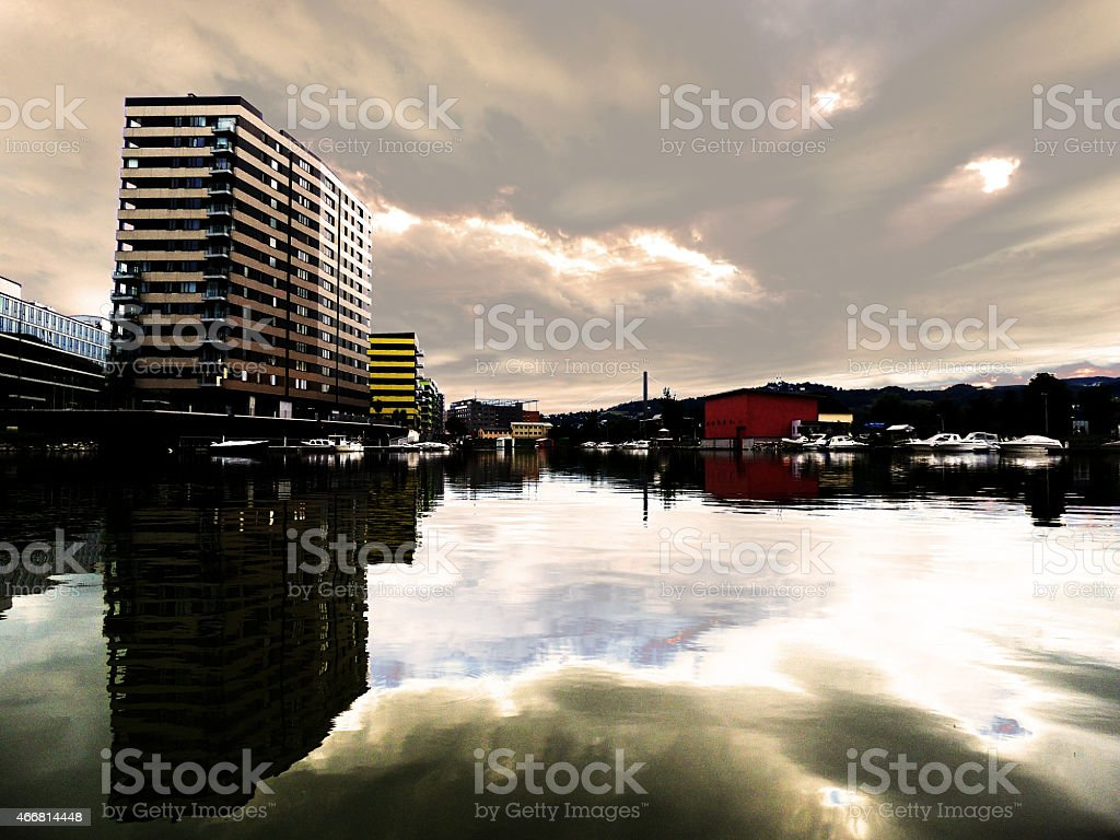 Hafenlandschaft stock photo