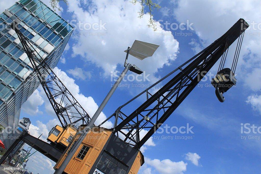 Hafenromantik in Köln stock photo