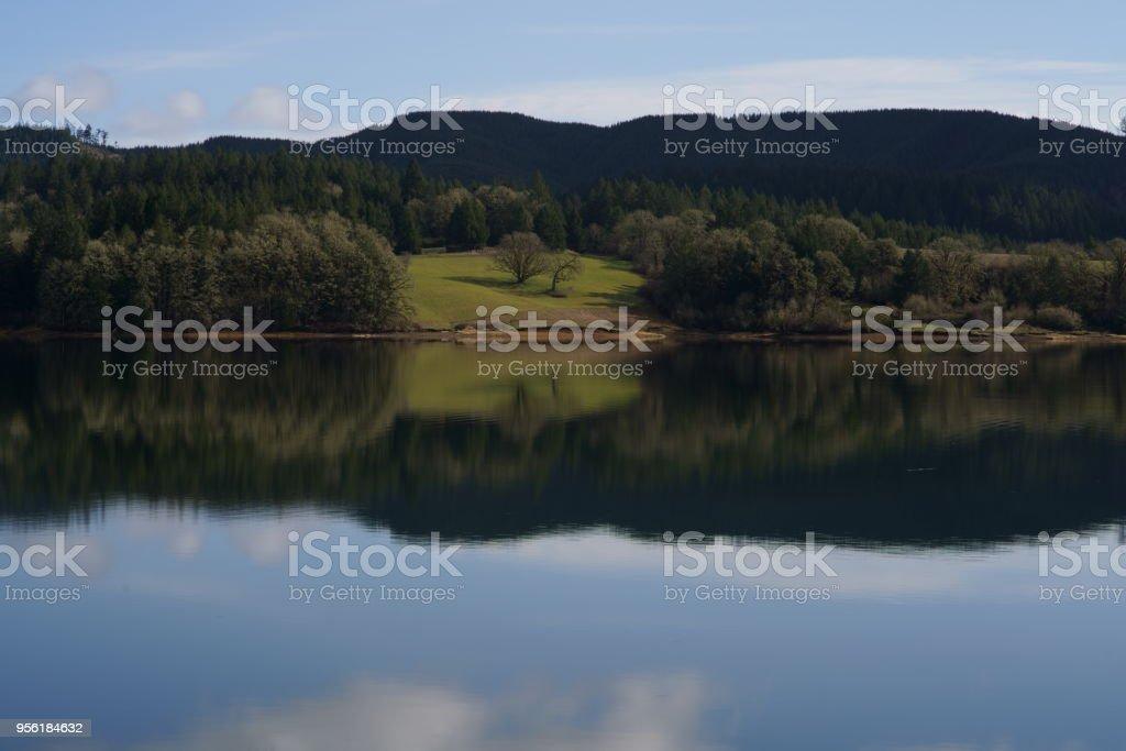 Hagg Lake stock photo