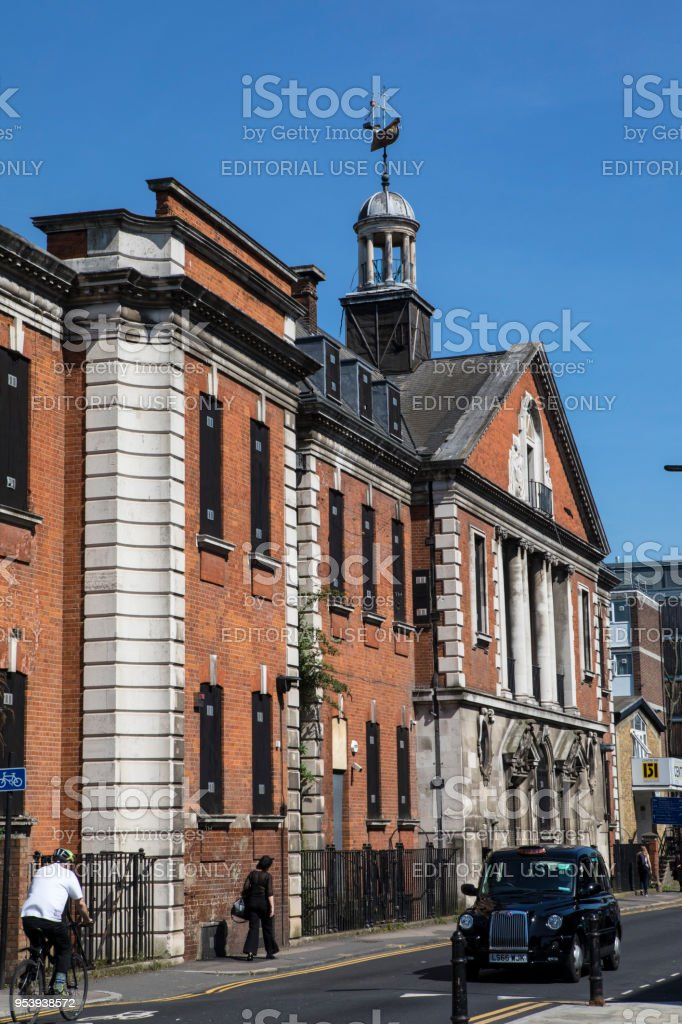 Haggerston Baths building in London, UK stock photo