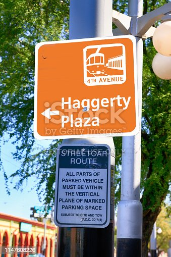 Haggerty Plaza sign on 4th Ave in Tucson AZ