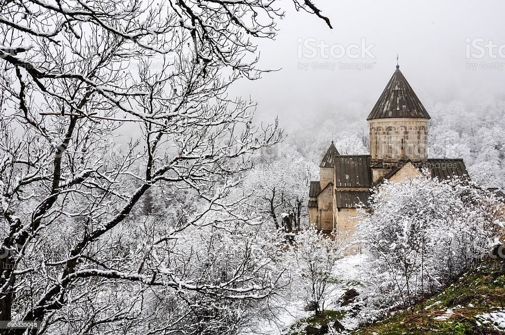 Haghartsin Monastery near small town Dilijan stock photo