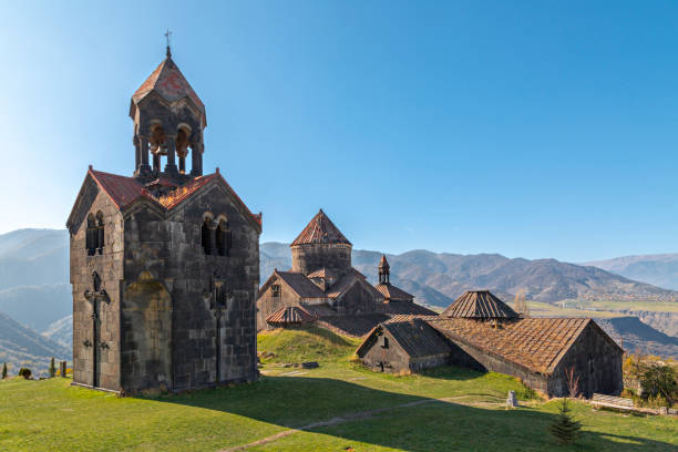 Haghpat Monastery and Church in Armenia Haghpat church in the town of Haghpat, Armenia monastery stock pictures, royalty-free photos & images