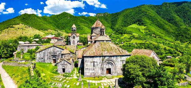 Haghpat Monastery, UNESCO world heritage in Armenia View of Haghpat Monastery, UNESCO world heritage in Armenia armenian culture stock pictures, royalty-free photos & images