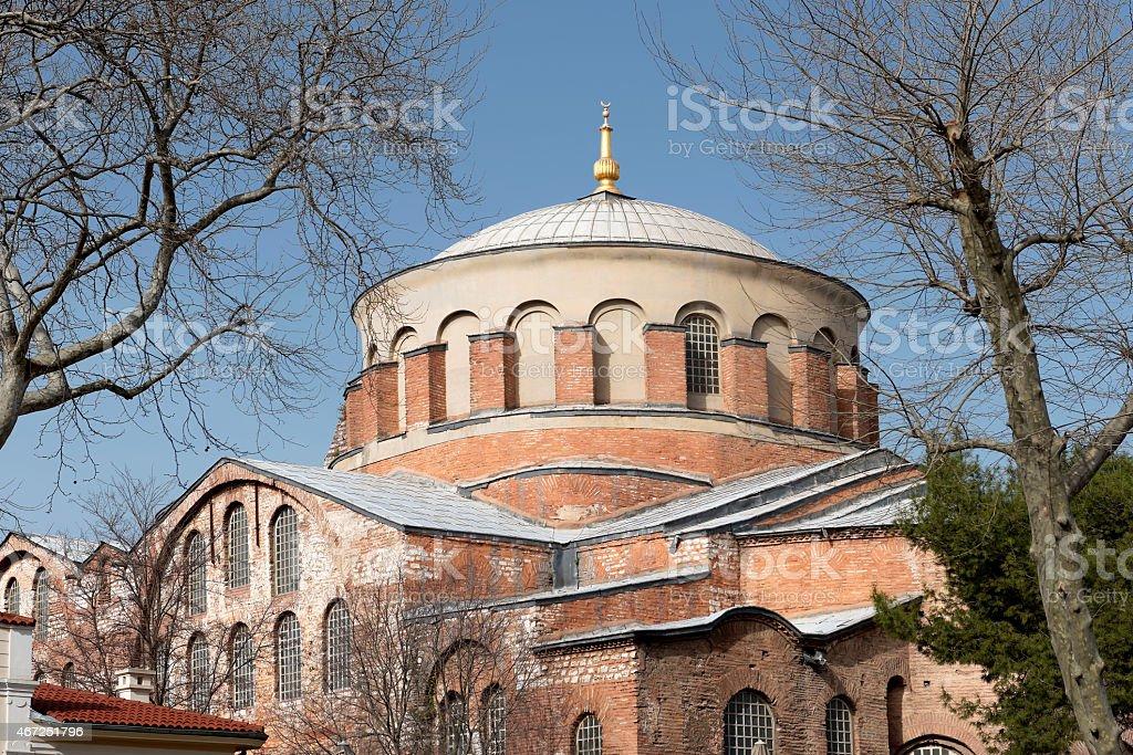 Hagia Irene church (Aya Irini) in Istanbul stock photo