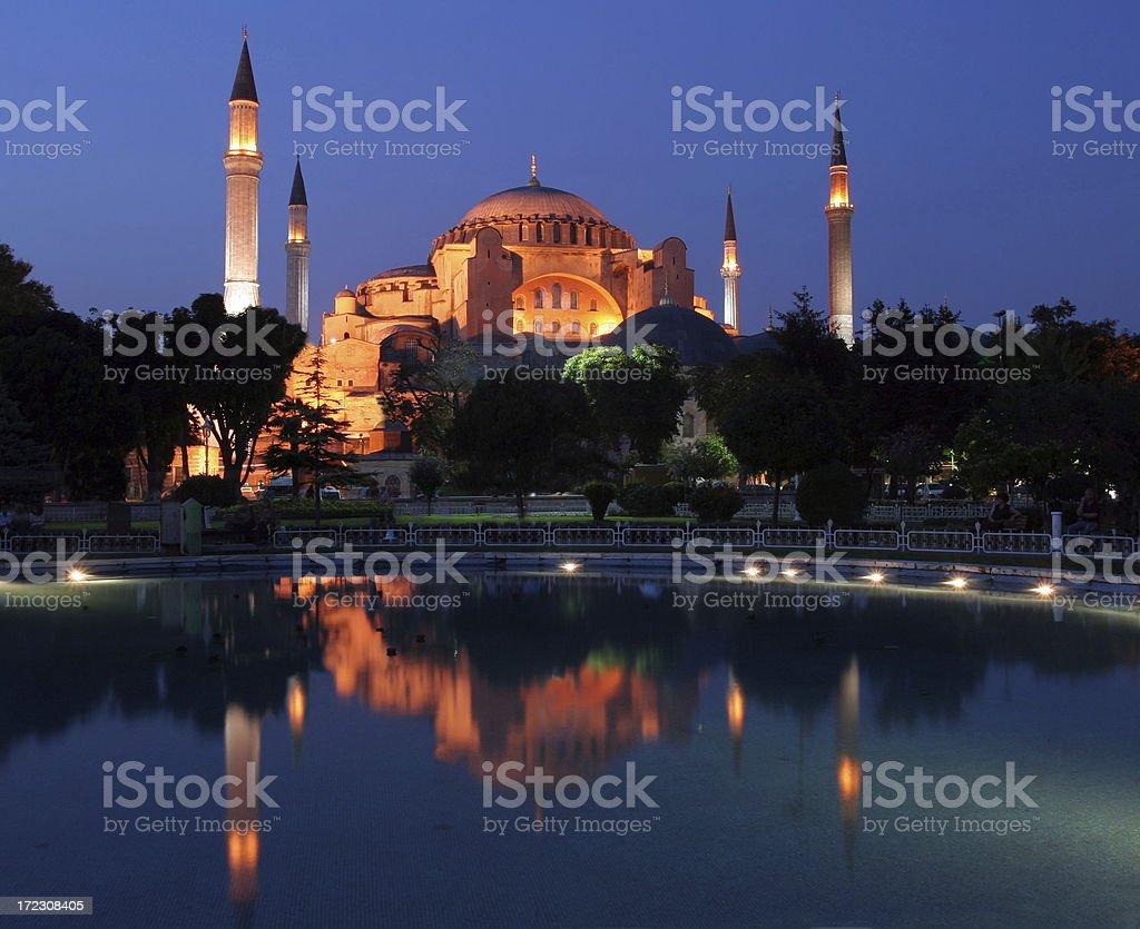 Hagia Sophia at dusk- 2 royalty-free stock photo