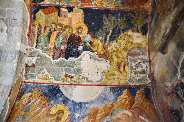 Hagia Sophia church and frescoes,  Trabzon in Turkey stock photo