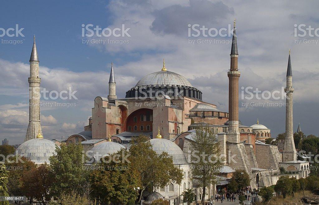 Hagia Sophia in Istanbul Turkey royalty-free stock photo