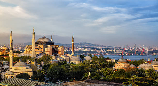 hagia sophia in istanbul, turkey - turkey middle east stock pictures, royalty-free photos & images