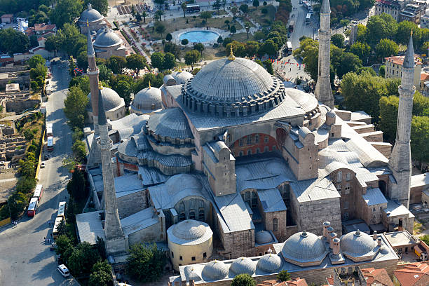 Hagia Sofia w Sultanahmet district, Istanbul. Turcja. – zdjęcie