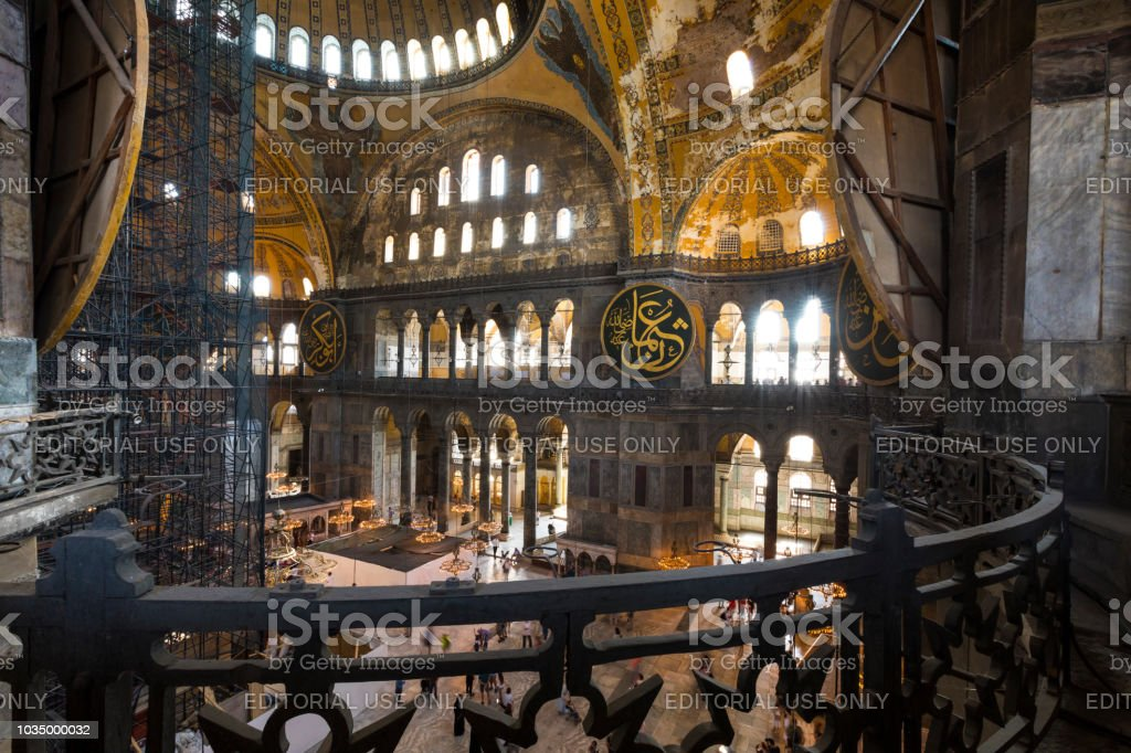 efa41f8d22 Istanbul Turkey August 20 2018 Hagia Sophia Interior In Istanbul ...