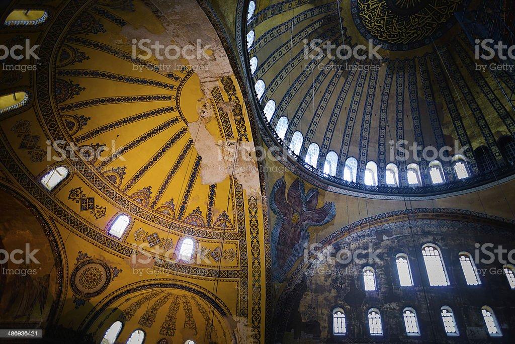 Hagia Sophia interior stock photo