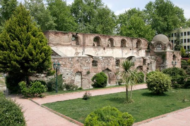 Hagia Sophia  Mosque  in Iznik Town,  before restoration stock photo