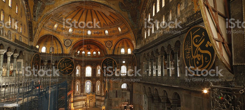 Hagia Sophia, view from the Upper Gallery, Istanbul, Turkey royalty-free stock photo