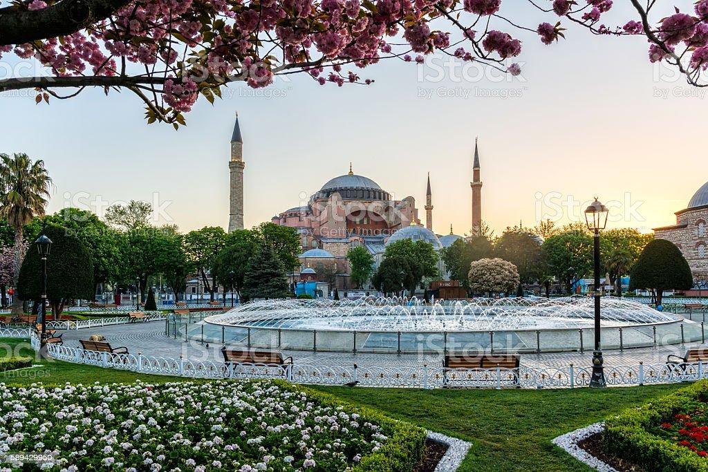 Hagia Sophia view stock photo