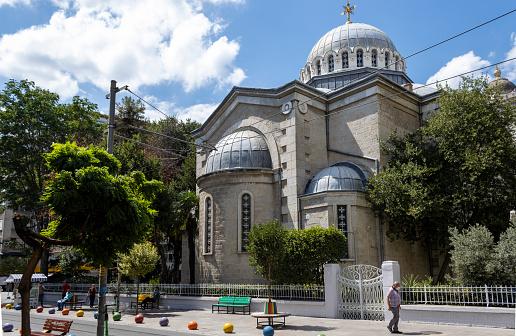 Istanbul,Turkey- August 17,2020:Hagia Triada or Aya Triada Greek Orthodox Church in Kadikoy, Istanbul. Built by Patriarch Joachim III and Yermenos, Metropolitan of Kadikoy in 1902.