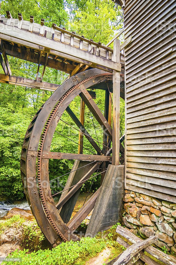 Hagood Mill Historic Site in south carolina royalty-free stock photo