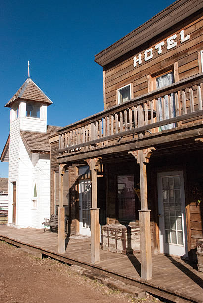 hag's ranch legends of the west rodeo ridgway colorado - western town stock photos and pictures