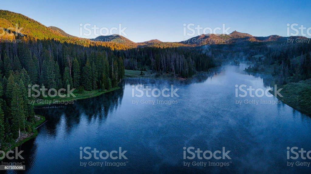 Hahns Peak ake Scenic Landscape Summer stock photo