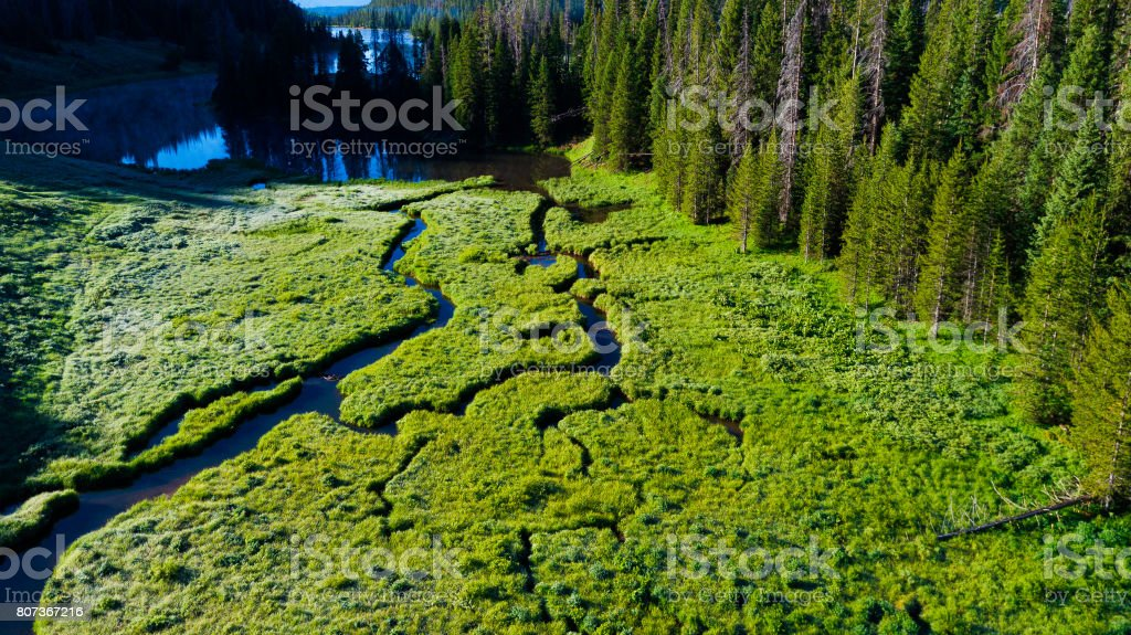 Hahns Peak Lake Scenic Landscape Summer stock photo