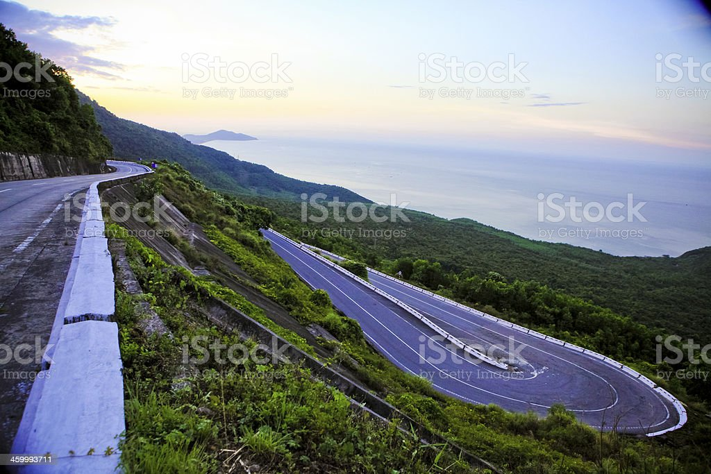 Hai Van mountain pass stock photo