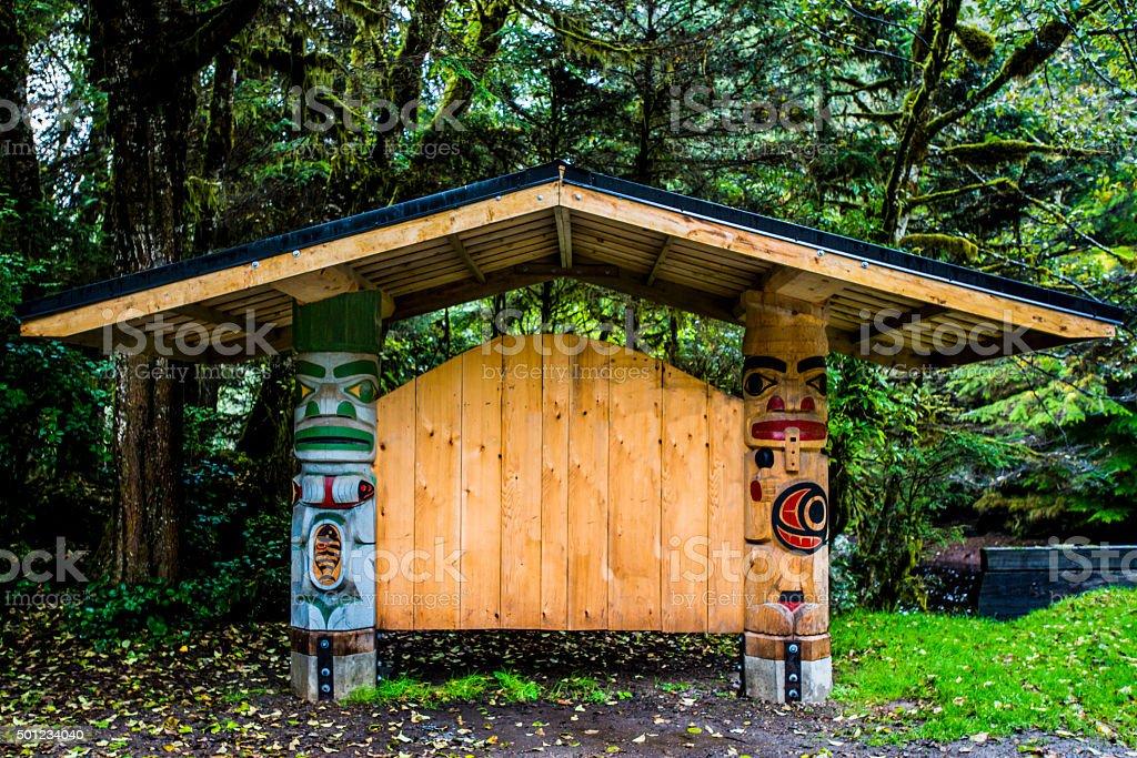 Haida Carvings stock photo