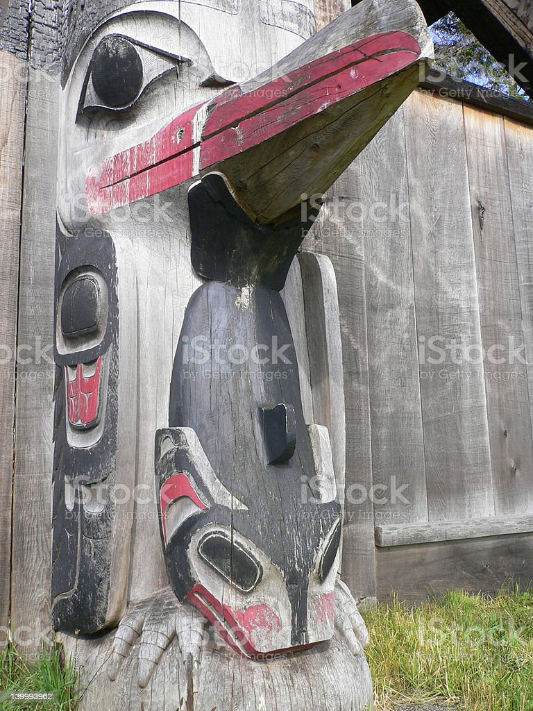 Haida Totem royalty-free stock photo