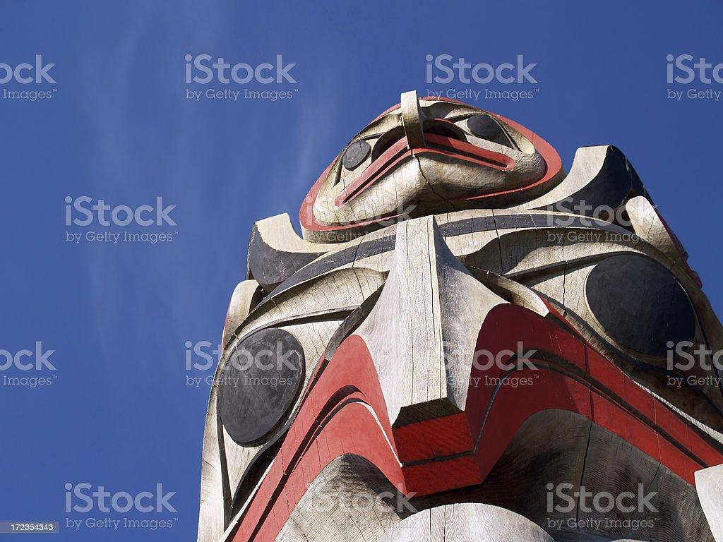 Haida totem royalty-free stock photo