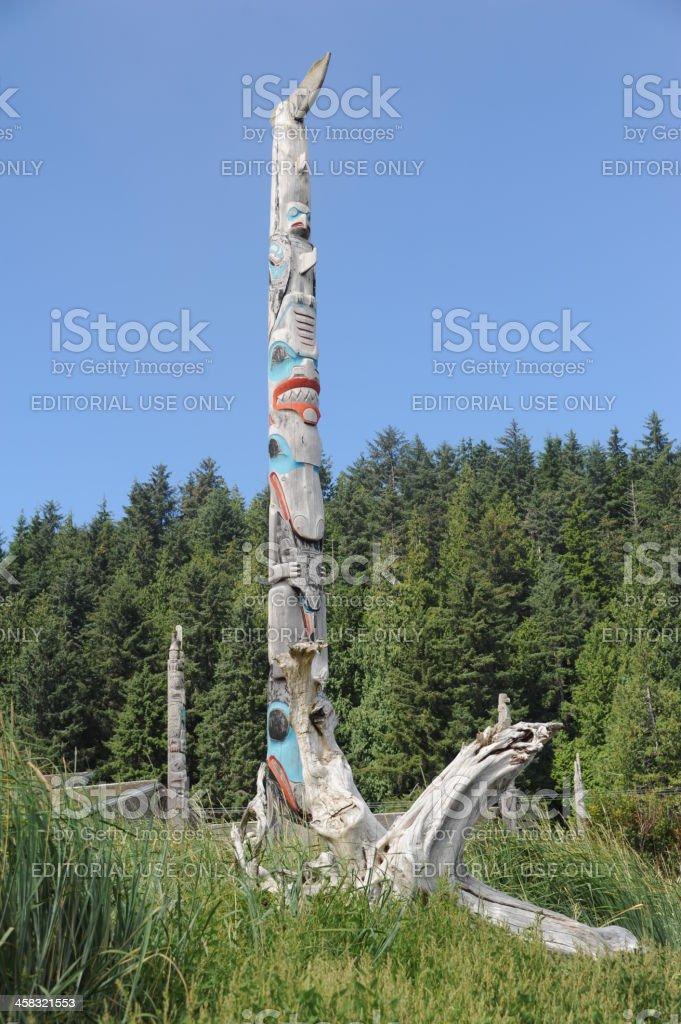 Haida Totem Pole stock photo