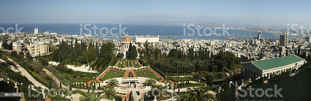 Haifa, Israel panoramic view royalty-free stock photo