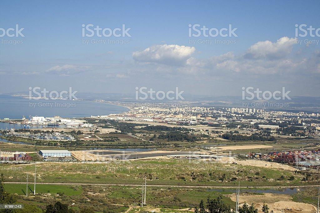 Haifa View royalty-free stock photo