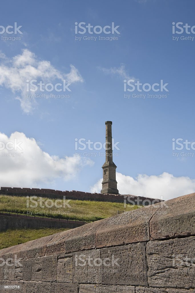 Haig Pit Chimney In Cumbria royalty-free stock photo