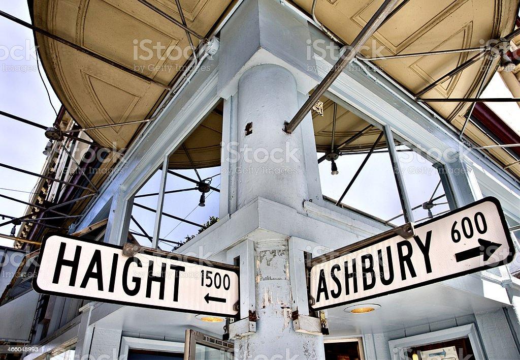 Haight Ashbury California stock photo