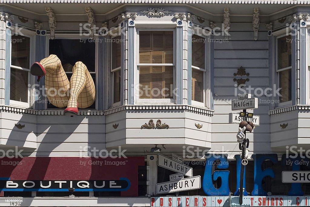 Haight Ashbury Legs, San Francisco stock photo