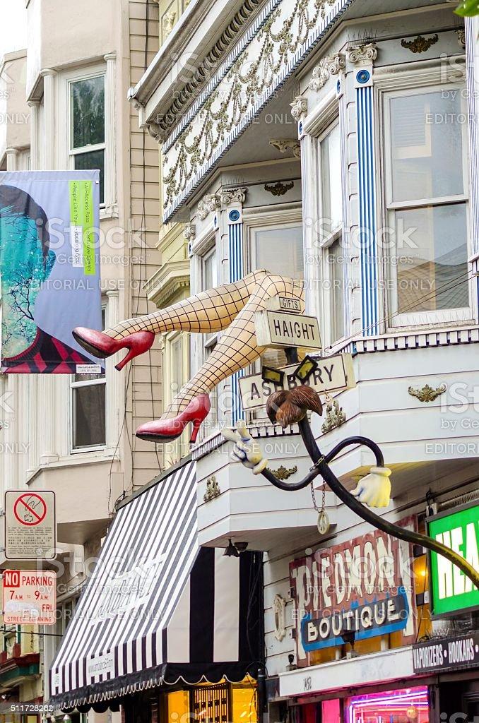 Haight Ashbury, San Francisco stock photo