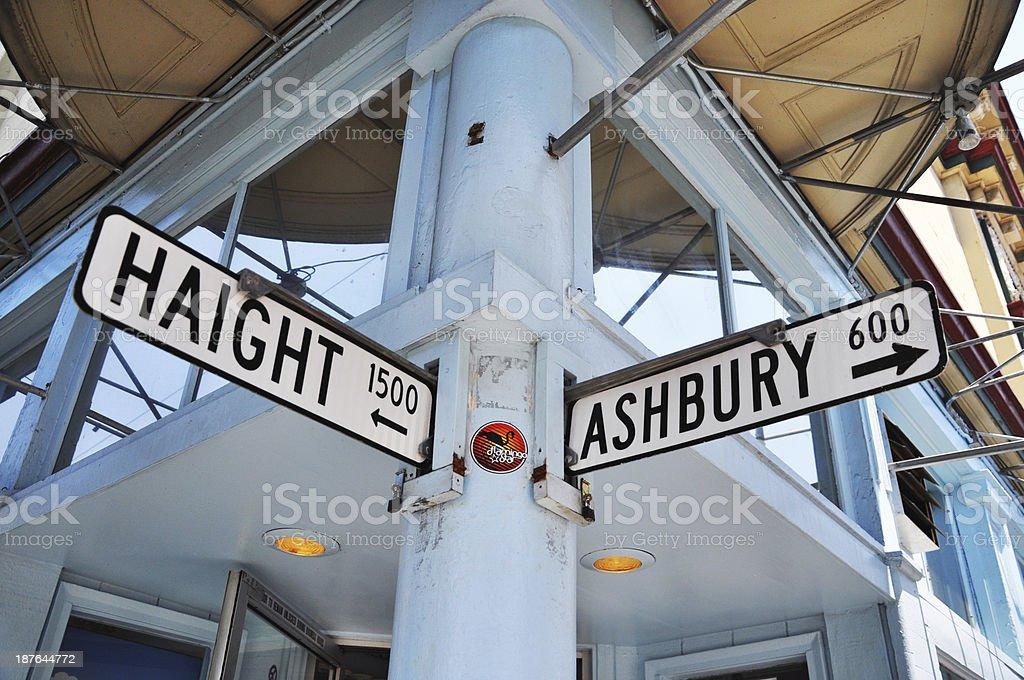Haight Ashbury Sign, San Francisco stock photo