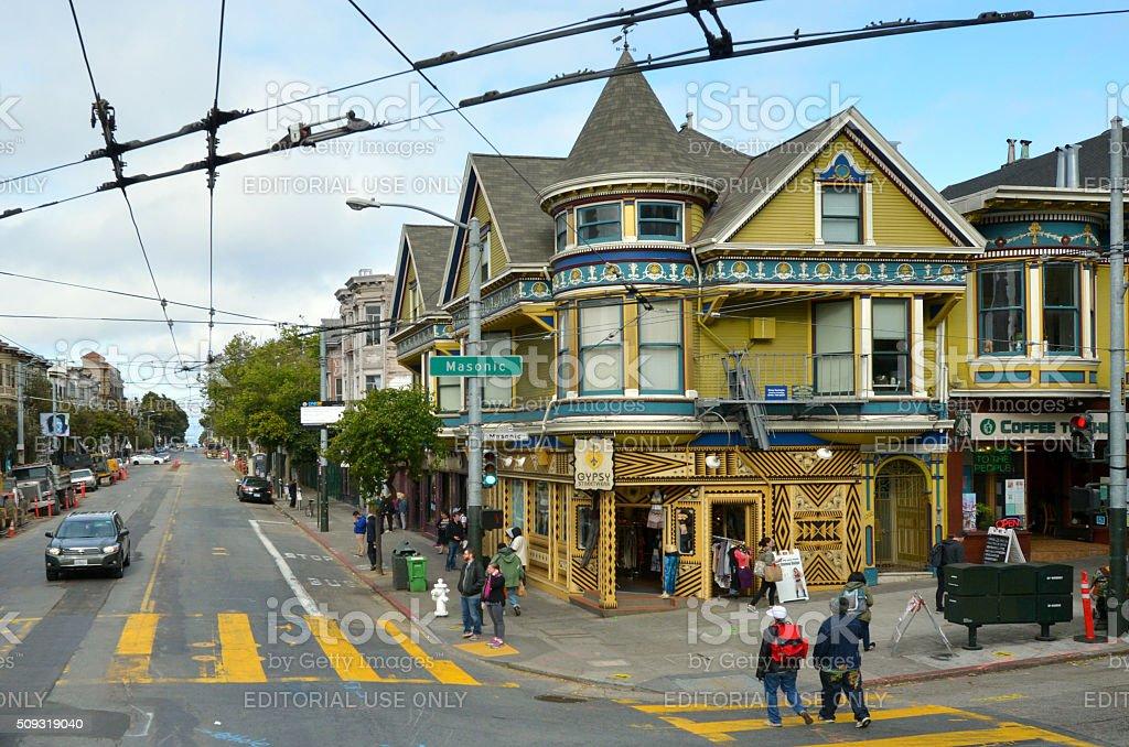 Haight Street in Haight-Ashbury San Francisco stock photo