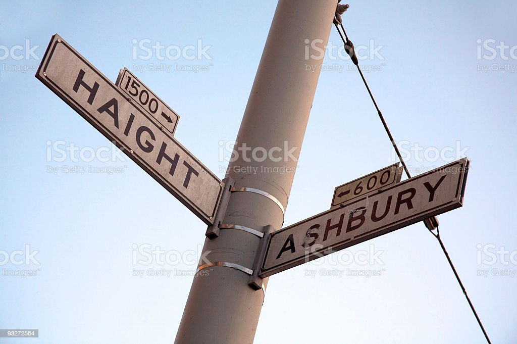 Haight-Ashbury Intersection stock photo