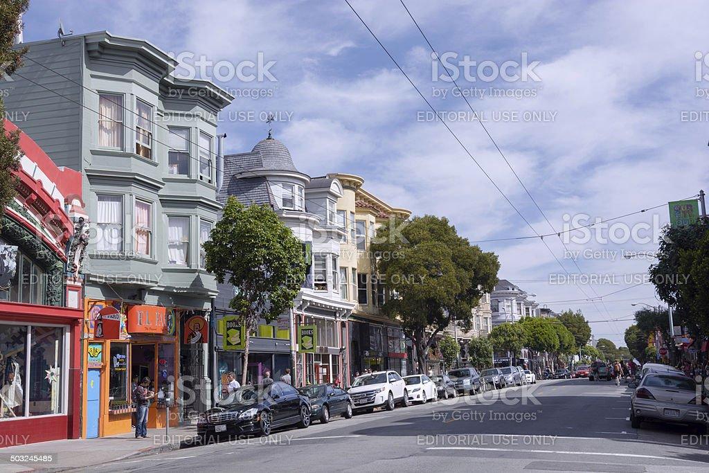Haight-Ashbury neighborhood of San Francisco, CA stock photo