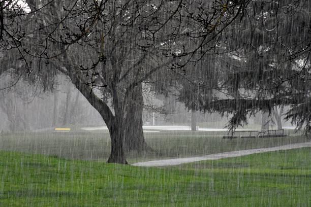 Hagel Sturm auf den Golfplatz – Foto