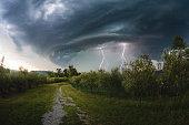 istock Hailstone Lightning Storm 1205977700