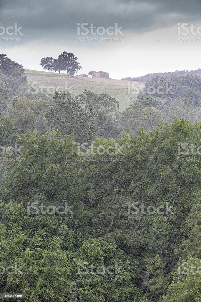 Hailstorm over Umbria, Italy royalty-free stock photo